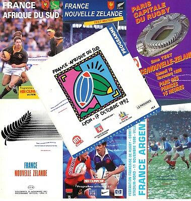 FRANCE v ARGENTINA CANADA NEW ZEALAND SOUTH AFRICA RUGBY PROGRAMMES