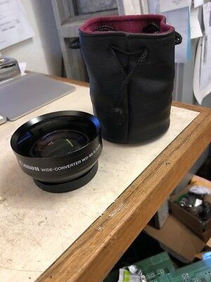 Canon wide Converter angle lens WD -58 W/ rear Cap & Bag 58mm threads excellent