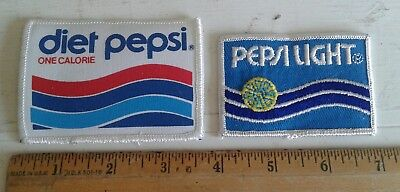 Lot of 2 Pepsi Patch Diet One Calorie Light Advertising
