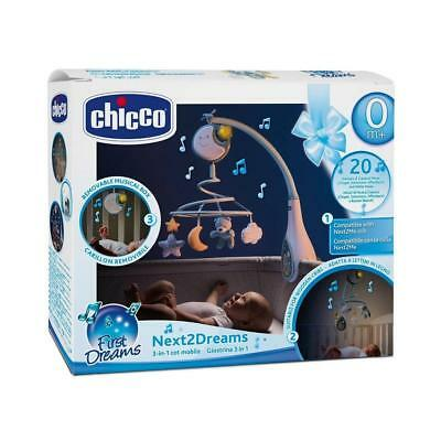 Chicco Next2Dreams Cot Mobile (Blue) With Music and Nightlight