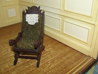 Dollhouse Miniature Wood Rocking Chair