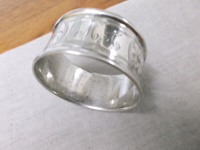 A   Vintage   Sterling Silver   Napkin Ring   Chester  1918