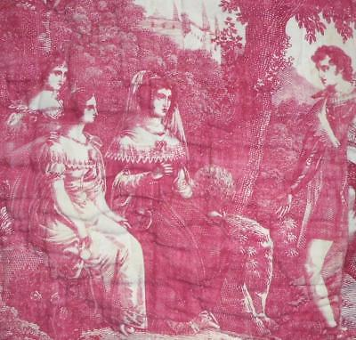 BEAUTIFUL EARLY 19th CENTURY FRENCH TOILE DE JOUY BY CHOLET, C1810-20 5.