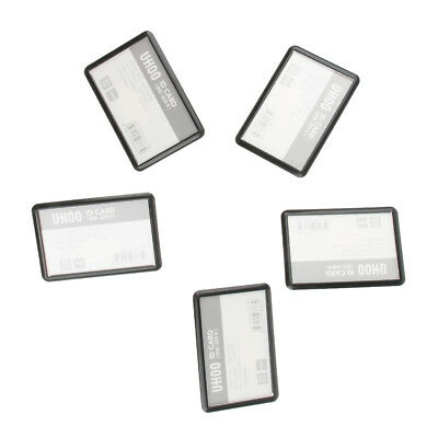 5 Pcs 2-way Red Combi-Clip Name Badges ID Card Holder Closed-dustproof