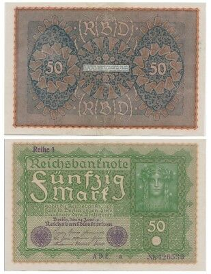 5o Marks German banknote issued in 24.06.1919 ADE a xf