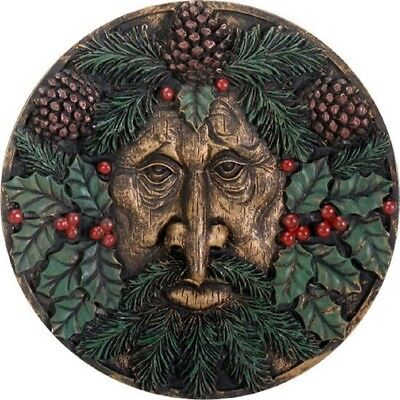 Green Man Winter Wall Plaque Hanging Home Decoration Greenman Pagan Celtic New