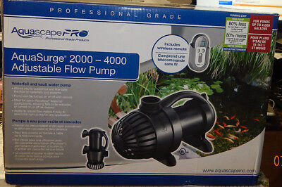 Brand New Aquascape AquaSurge 2000 to 4000 Pro Adjustable Flow Pump for Pond