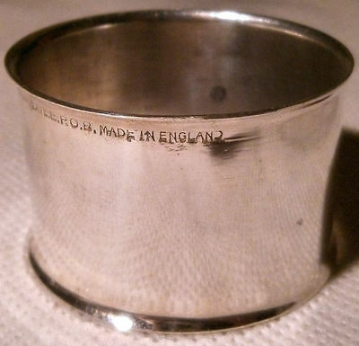 Yeoman Silver Plated Napkin Ring