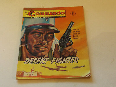Commando War Comic Number 189!!,1965 Issue,fair For Age,53 Years Old,v Rare.