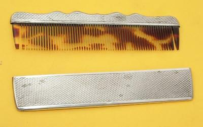 Antique 800 Silver Cased Faux Tortoiseshell Comb In Very Good Condition