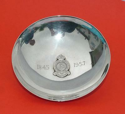 Sterling Silver Crested Bengal Cub Coin Dish Change Tray Bengal Club 1845-1957