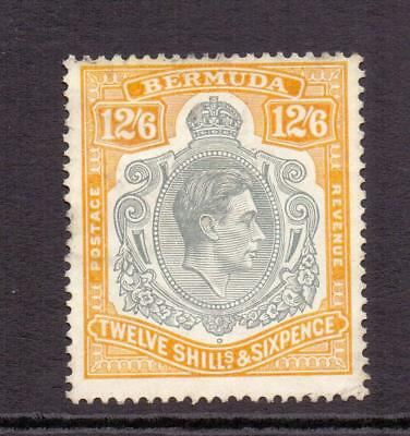 Bermuda KGVI SG120b 12s6d Grey and Pale Orange High Value Perf 14