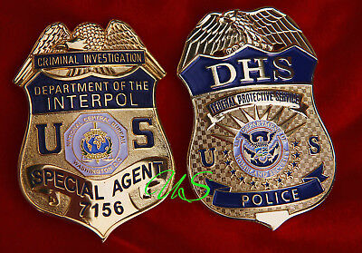 gß/ Historisches Police badge + choose Special Agent Interpol OR DHS Police