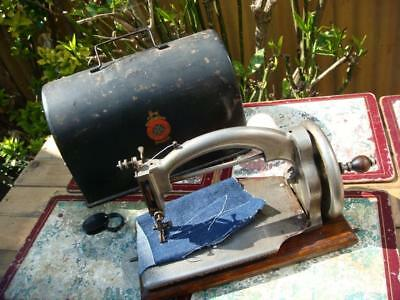 Old Vintage  Antique Child IDEAL Chain Stitch Sewing Machine Rare 1910's