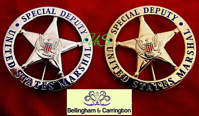 gß/ Historisches badge / choose > USMS Special Deputy Marshal gold OR silver B&C