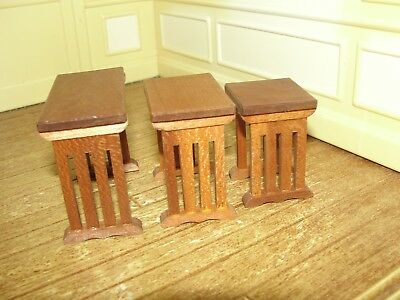 Dollhouse Miniature 3 Nesting Tables