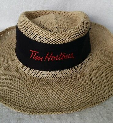 Tim Hortons 100% Straw Cowboy Hat One Size Fits Most Fersten Elite Collection