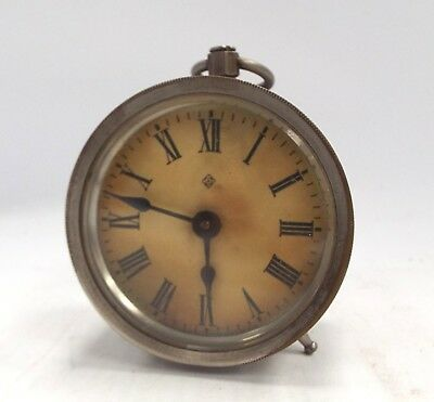 Antique ASONIA Small Wind Up Clock Made In USA 1878 - SPARES / REPAIRS - H47