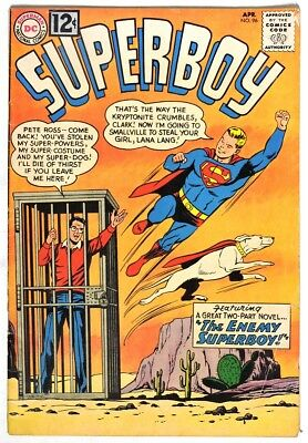 S045. SUPERBOY #96 by DC Comics 4.5 VG+ (1962) SILVER AGE, 12 Cent Issue `