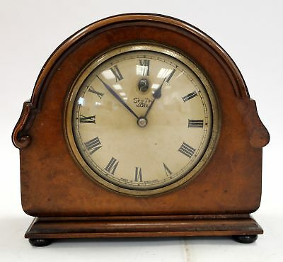 Vintage SMITHS Walnut Wood SECTRIC MANTEL CLOCK Synchronous Electric - B25