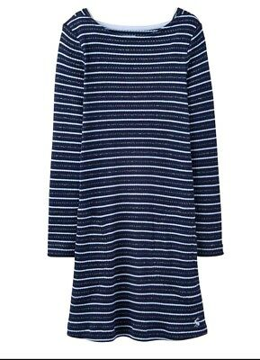 Joules girls navy silver stripey tunic long sleeve Marnie Dress 11-12 Years bnwt