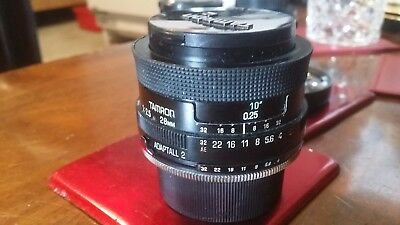 Tamron 28mm f2.5 prime lens adaptall 2 mount for ? included.