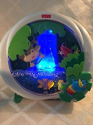 Fisher Price Crib Toy Rainforest Waterfall Peek-a-Boo Baby Soother Sound Lights