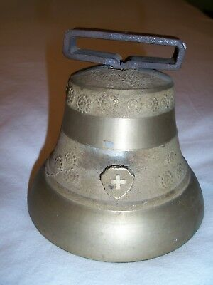 "Antique Brass Ship, Farm, School Bell Nautical/ Marine 5x4"" Great Sound"
