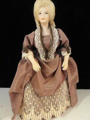 Artisan Blonde Victorian Lady Doll In Porcelain