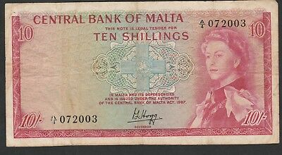 10 Shillings From Malta 1967