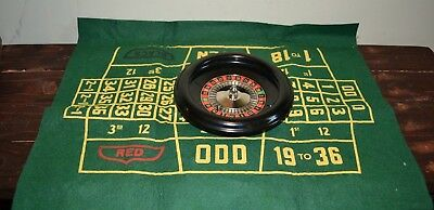 Vintage Rottgames NY Roulette Wheel & Felt Board-Made in USA