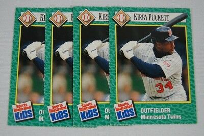 Lot Of (4) Si For Kids 1990  Kirby Puckett Sports Illustrated