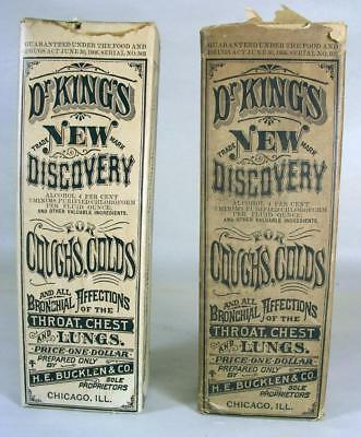 2 Vintage Dr.King's New Discovery Quack Medicine Medication Snake Oil Salesmen