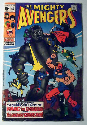 The Avengers #69 Silver Age Marvel Comic Book 1969 FN-