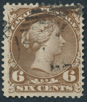 Canada #27 6c Large Queen, F-VF Appearance