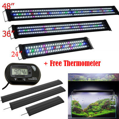 "24"" 36"" 48"" Multi-Color LED Aquarium Light 0.5W Full Spec Plant 90 180 225 LEDs"