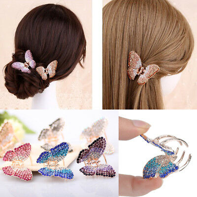 Butterfly Claw Women Girl Crystal Rhinestone Hair Clip Clamp Hairpin Accessory