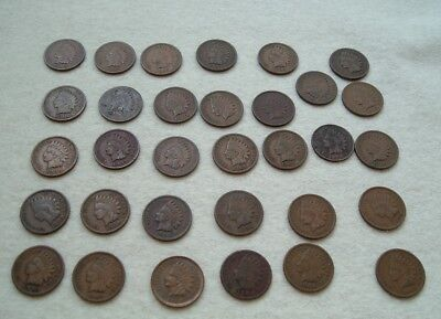 LOT 32 Old INDIAN HEAD PENNY COLLECTION 15 Different Dates 1900's!