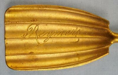 Reymers Vintage Decorative Advertising Souvenir Candy Shell Sugar Spoon Gold (O)