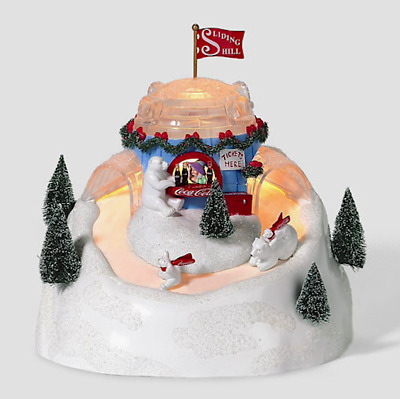 Dept 56 North Pole - Coca Cola Sliding Hill 56851 Animated - Brand New - Sealed