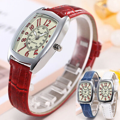 Fashion Women Faux Leather Casual Watch Luxury Analog Quartz Ladies Wrist Watch