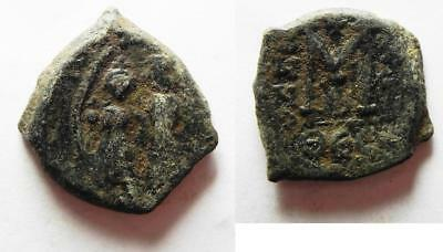 ZURQIEH -as6331- BYZANTINE . HERACLIUS AE FOLLIS