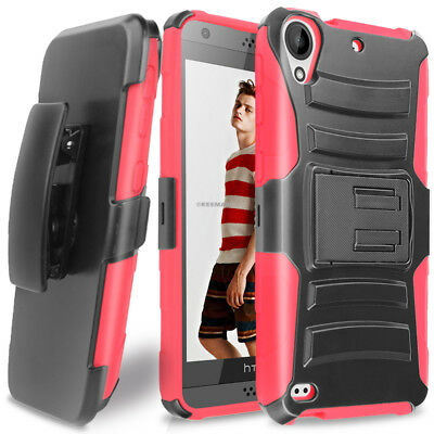 For HTC Desire 555/530/550 Hybrid Advanced Armor Belt Clip Holster Stand Case