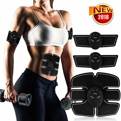 3 In 1 Intelligent EMS Body Fitness Abdominal Muscle Arm Leg Trainer Stimulator
