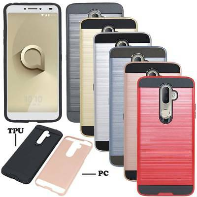 Hybrid Hard Armor Heavy Duty Case Shockproof Bumper Cover For Alcatel 3v