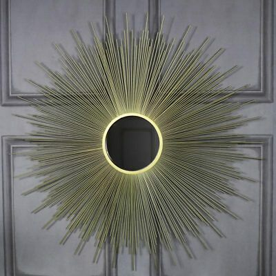Large gold sunburst wall mirror shabby ornate chic wall mounted vanity home gift
