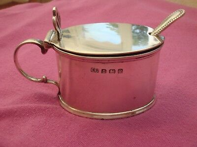 Solid Sterling Silver English Hallmarked Date 1914 George Unite Mustard Pot