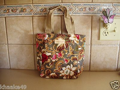 Longaberger Majolica Garden Floral Small Tote /  Lunch Bag * Nip * Free Shipping