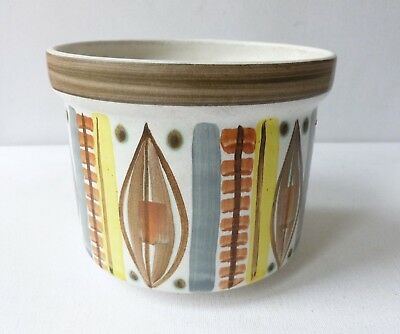1960's Langley Plant Pot Decorated by Glyn Colledge
