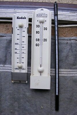 2 Vintage Kodak Tank Thermometers And  1Other